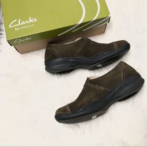 New Clark's In-Motion Camp Comfort Clog Olive 8.5